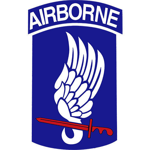 173rd Airborne Division Clear Decal
