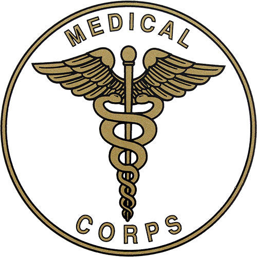 Army Medical Corps Insignia Clear Decal | ACU Army