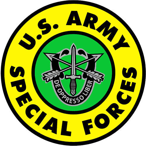 Army Special Forces Insignia Clear Decal