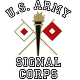 Army Signal Corps Clear Decal