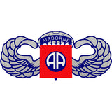 Airborne AA With Wings Decal