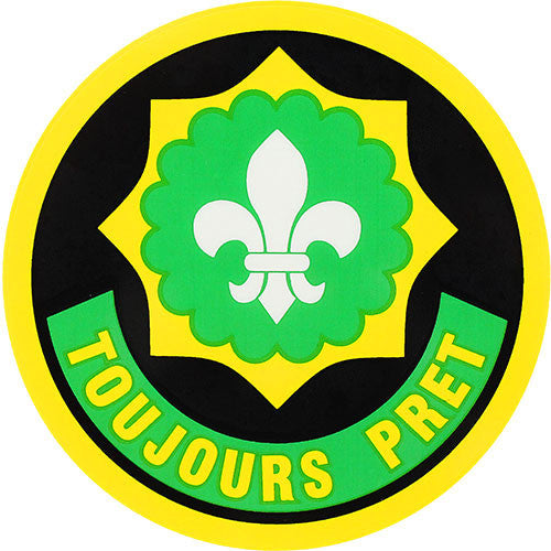 2nd Cavalry Regiment Toujours Pret Clear Decal