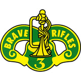 3rd Cavalry Regiment Brave Rifles Decal