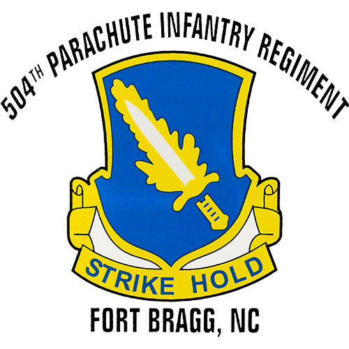 504th Parachute Infantry Regiment Clear Decal