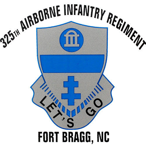 325th Airborne Infantry Regiment Clear Decal