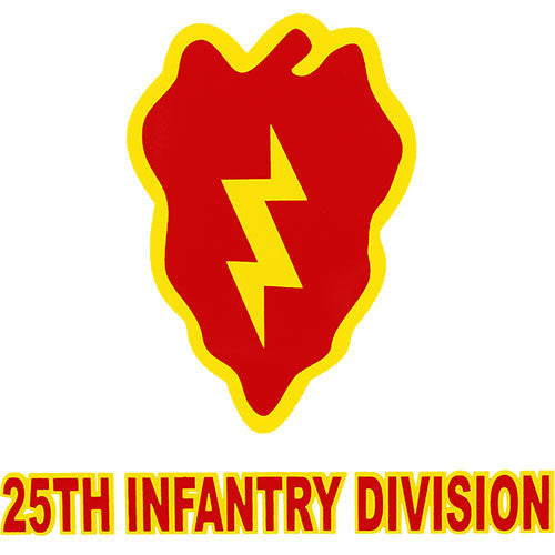 25th Infantry Division Clear Decal