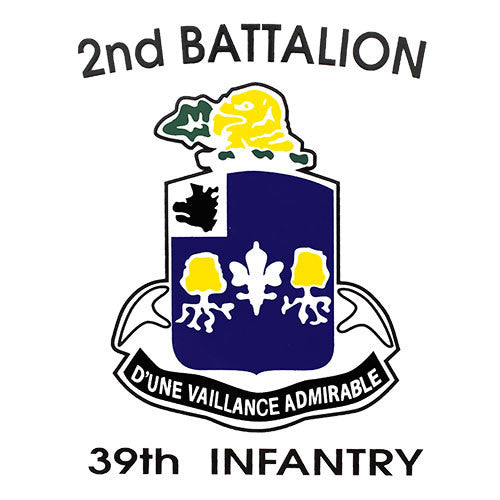 2nd Battalion 39th Infantry Ft. Jackson Clear Decal