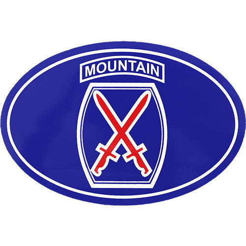 10th Mountain Division Oval Euro Style Decal