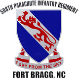 508th Parachute Infantry Regiment Clear Decal