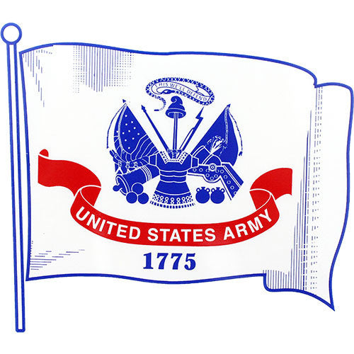 U.S. Army Waving Flag Clear Decal