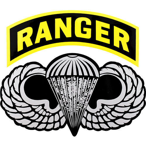 Parachute Wings With Ranger Arc Clear Decal