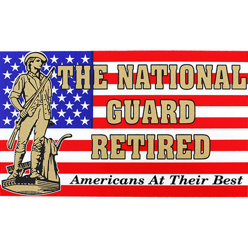 The National Guard Retired Clear Decal