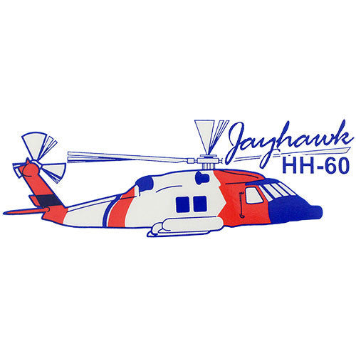 Jayhawk Helicopter Clear Decal