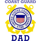 Coast Guard Dad Clear Decal