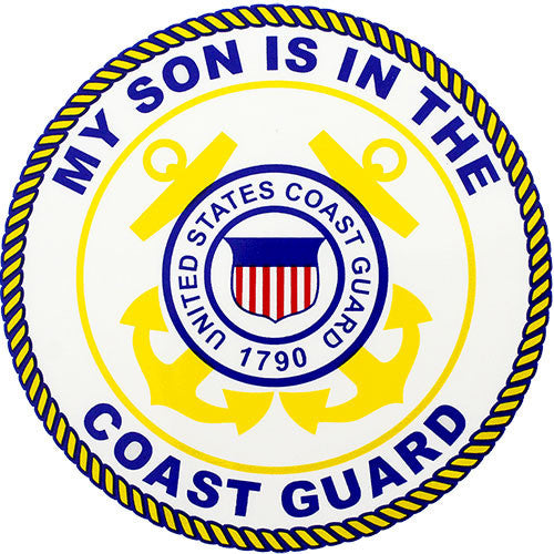 My Son Is In The Coast Guard Clear Decal