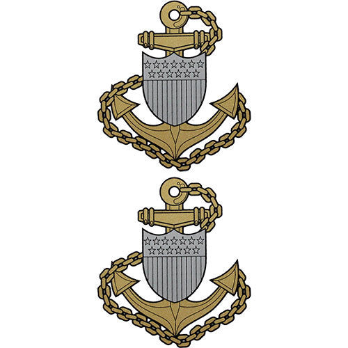 Chief Petty Officer E-7 Clear Decal 2pc.
