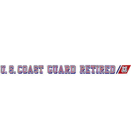 U.S. Coast Guard Retired Clear Window Strip