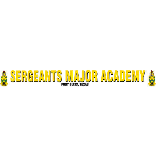 Sergeants Major Academy Clear Window Strip