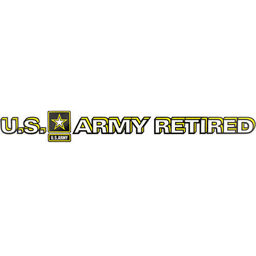 U.S. Army Star Logo Retired Clear Window Strip