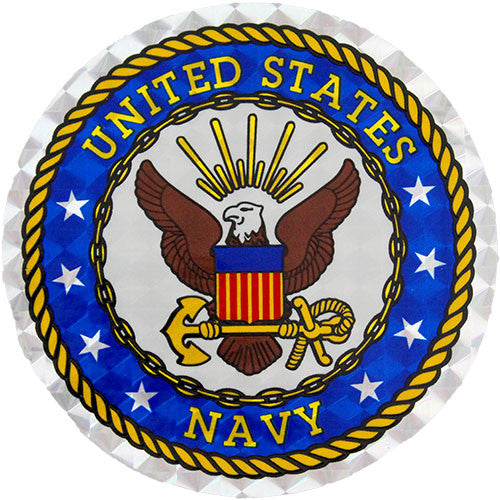 U.S. Navy 12 Inch Large Circle Prism Sticker