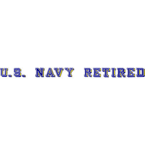 U.S. Navy Retired Window Strip