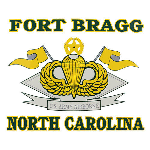 Fort Bragg NC 4 Inch Clear Decal