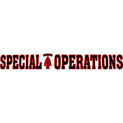 Special Operations Clear Window Strip