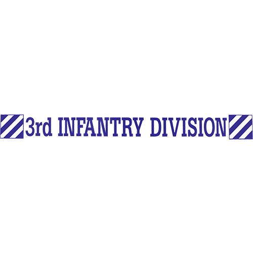 3rd Infantry Clear Window Strip
