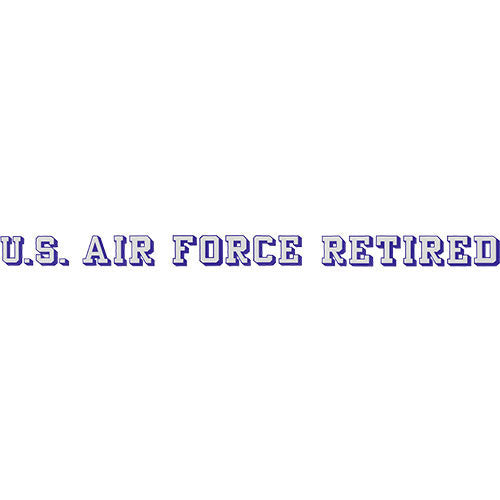U.S. Air Force Retired Window Strip