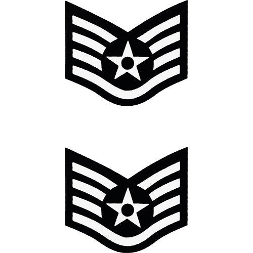 USAF E-5 Staff Sergeant Decal 2 pc.
