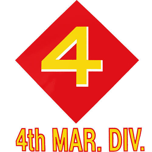 4th Marine Division Clear Decal