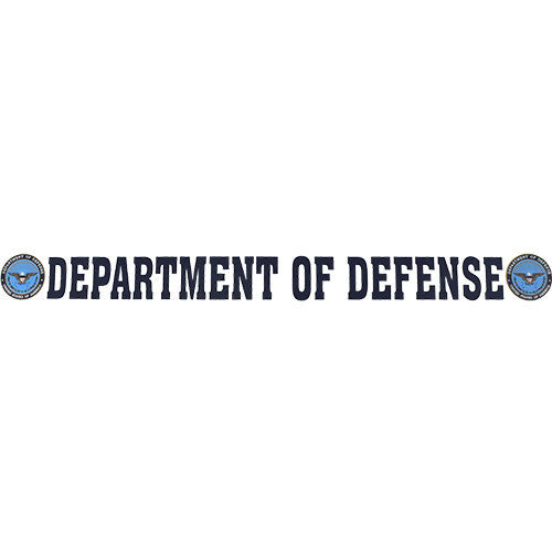 Department Of Defense Clear Window Strip