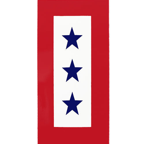 Three Blue Star Service Decal