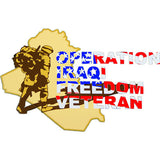 Operation Iraqi Freedom Veteran Clear Decal
