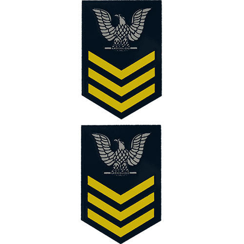 E-6 1st Class (Gold) Mini Clear Decal (2 pc)