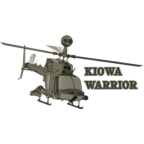 Kiowa Warrior Helicopter Clear Decal
