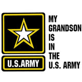 My Grandson Is In The Army With Star Clear Decal