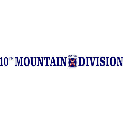 10th Mountain Division Clear Window Strip