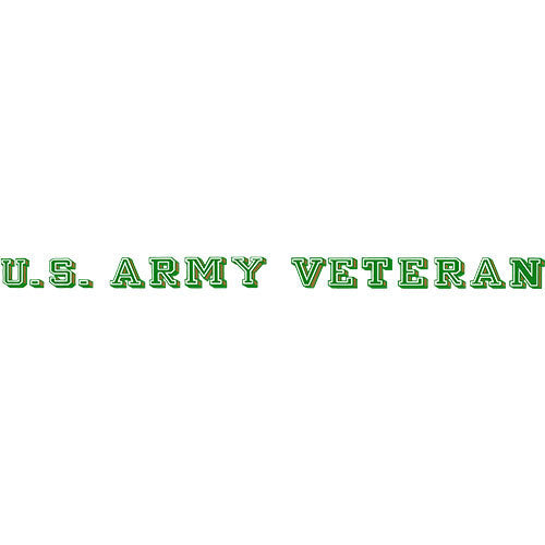 U.S. Army Veteran Clear Window Strip