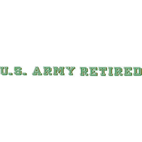U.S. Army Retired Clear Window Strip
