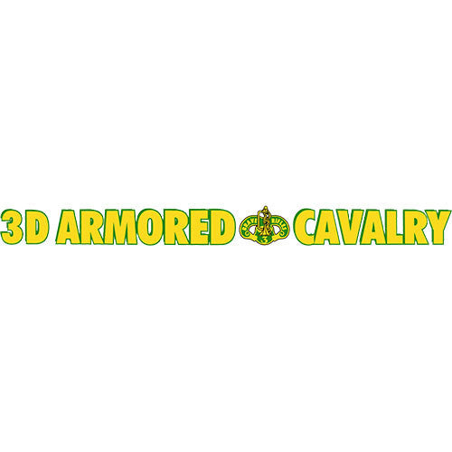 3rd Cavalry Regiment Clear Window Strip