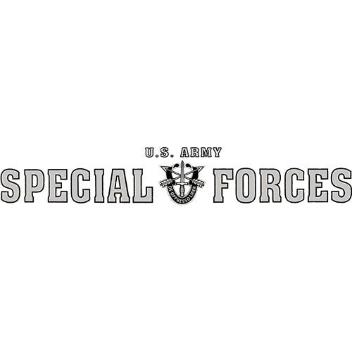 U.S. Army Special Forces Clear Window Strip
