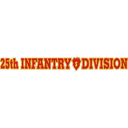 25th Infantry Division Clear Window Strip