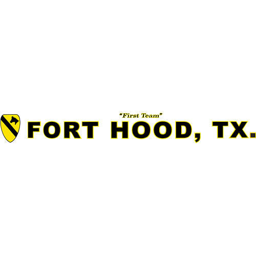 1st Cavalry Fort Hood Clear Window Strip