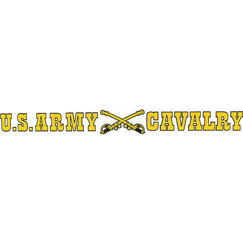 U.S. Army Cavalry Clear Window Strip