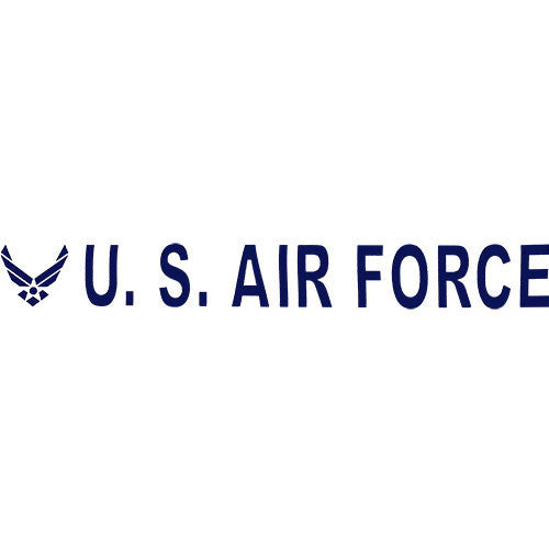 U.S. Air Force Clear Vinyl Transfer
