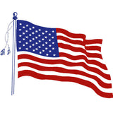 Wavy American Flag Clear Vinyl Decal