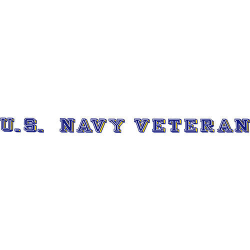 U.S. Navy Veteran Clear Window Strip