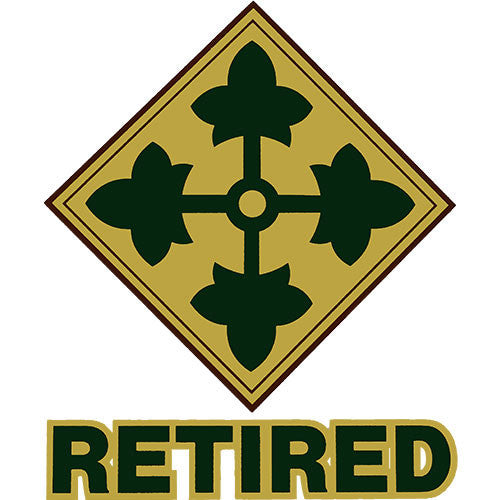 4th Infantry Division Retired Clear Decal