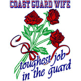 Coast Guard Wife Clear Decal